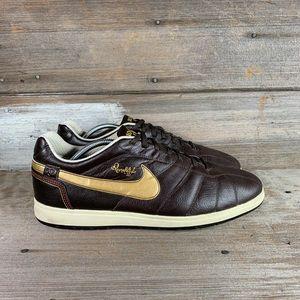 Nike Ronaldinho 10 Brown Leather Indoor Soccer